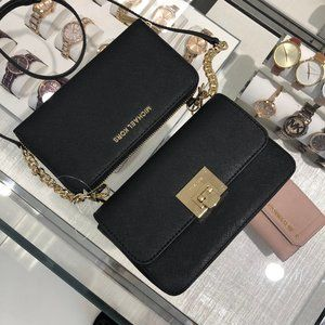 Michael Kors Tina 2-in-1 Leather Black wallet